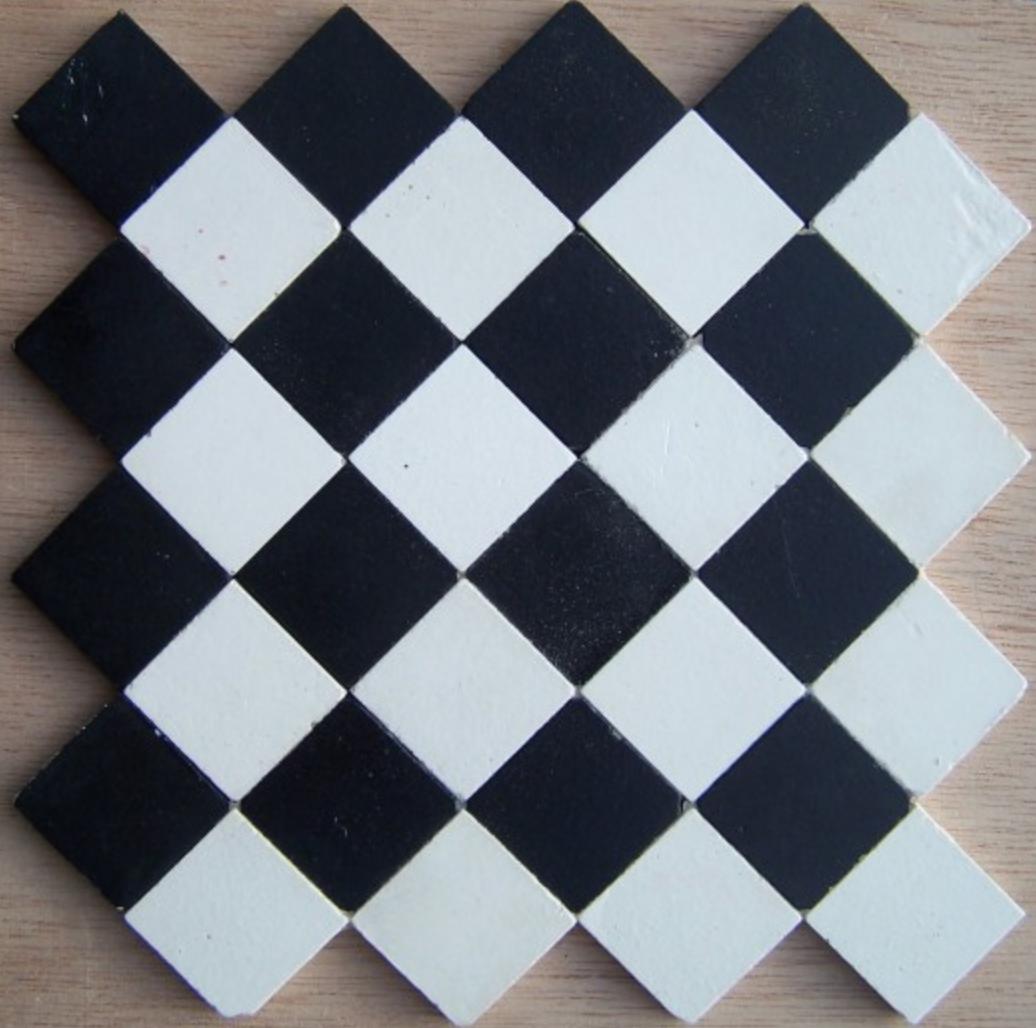 Carrelage Grand Carre Damier Noir Et Blanc
