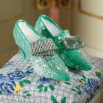 Paire de chaussures verte