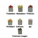 SAC DE FRUITS OU LEGUMES