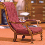 FAUTEUIL TISSUS VELOURS TYPE ANGLAIS