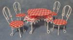 ENSEMBLE TABLE AVEC 4 CHAISES