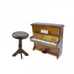 PIANO BRUN AVEC TABOURET