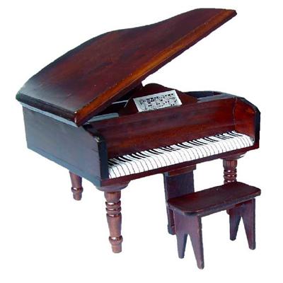 PIANO ACAJOU AVEC TABOURET