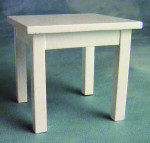 PETITE TABLE RECTANGULAIRE BLANCHE