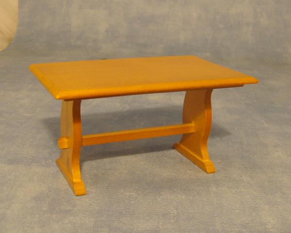 TABLE 2 PIEDS EN BOIS VERNIS