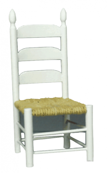 CHAISE PAILLEE BLANCHE