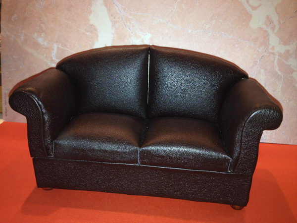 CANAPE TYPE CUIR 2 PLACES