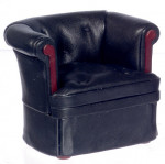 FAUTEUIL TYPE CUIR CHESTERFIELD