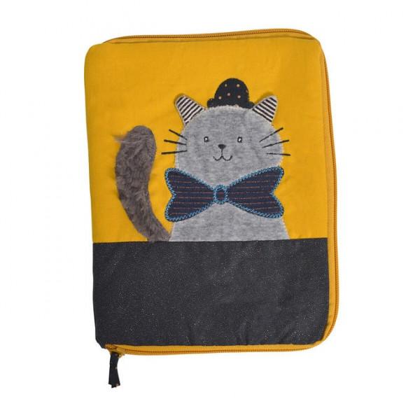 _ Protège carnet de santé chat «Les Moustaches»