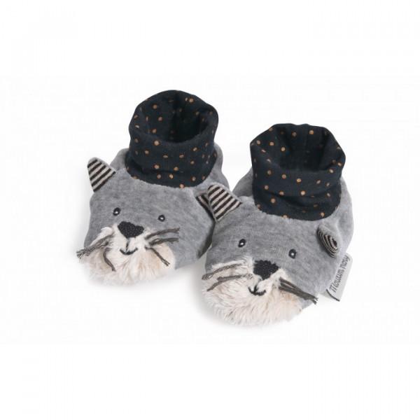 - Chaussons chat fernand «Les Moustaches»