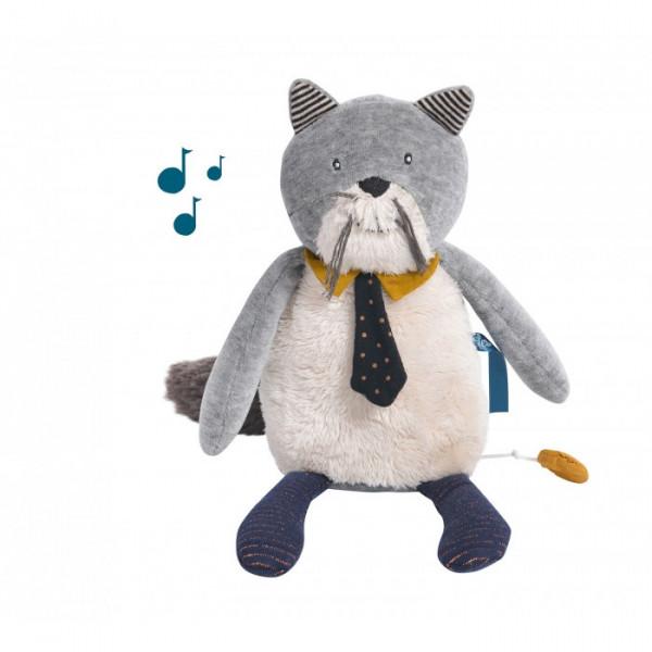 - Peluche musicale chat Fernand «Les moustaches»