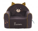 FAUTEUIL CHAUFFEUSE BRODÉ - CHAT