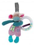 Hochet anneau à billes Mouton «Les Jolis Pas Beaux»