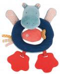 Anneau-Hochet Hippopotame «Les Papoum»