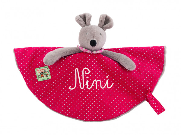 DOUDOU ATTACHE-TETINE NINI LA SOURIS