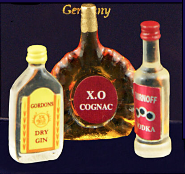 LOT DE 3 BOUTEILLES D'ALCOOL