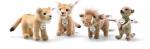 STEIFF - ROI LION 4 PERSONNAGES